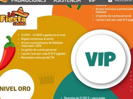Promociones VIP La Fiesta Casino