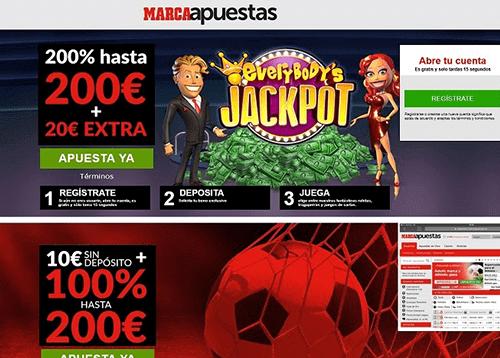 marca apuestas casino bonos
