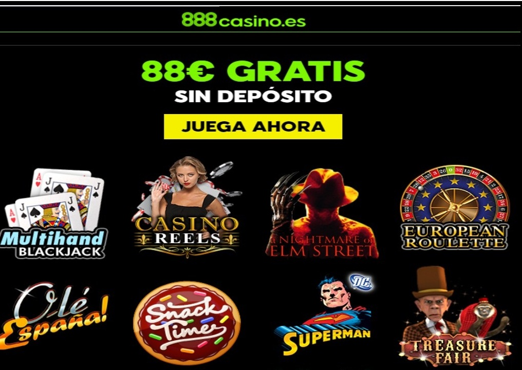 88 euros por registro sin depósito en Casino 888