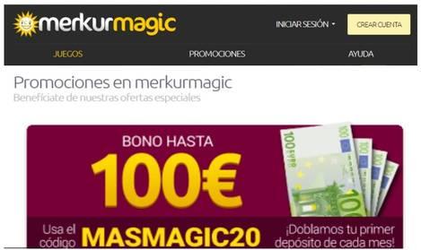 Merkurmagic otorga hasta 100 euros de bono por depósito