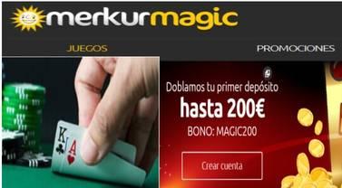 200 euros adicionales en Merkurmagic por primer depósito